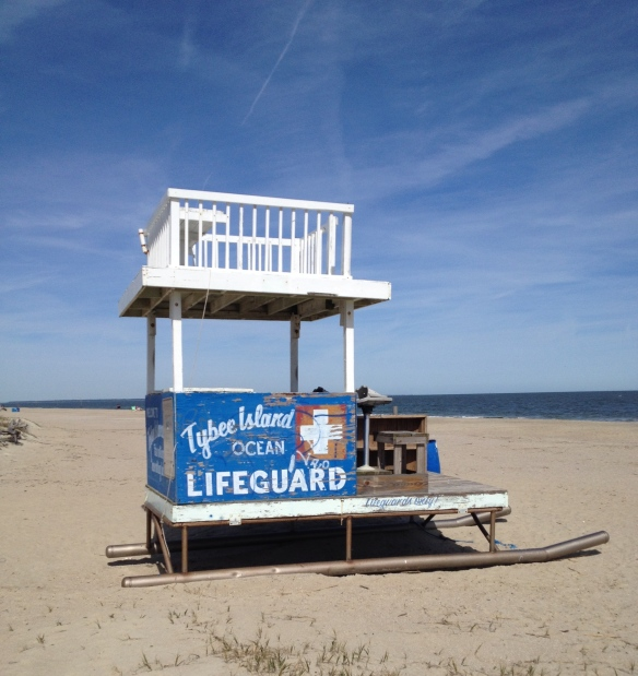 Tybee Beach lige uden for Savannah. Det var desværre ikke lige så varmt, som det ser ud på billedet...